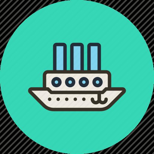 ship, steamboat, steamship, vessel icon
