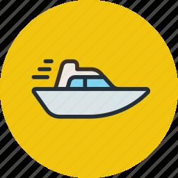 boat, speed, vessel, yacht icon