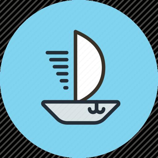 sail, ship, skiff, vessel icon