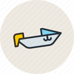 boat, motor, motorboat, powerboat, speed icon