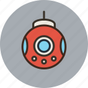 bathyscaph, bathyscaphe, deep-sea, science, submarine icon