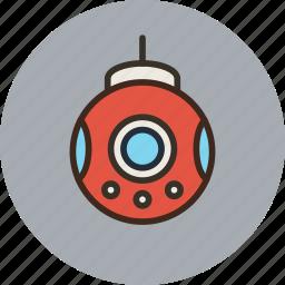 bathyscaph, bathyscaphe, deep-sea, science, submarine icon