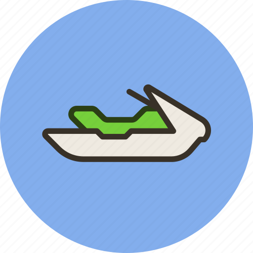 jet, relaxation, ski, sport, water icon