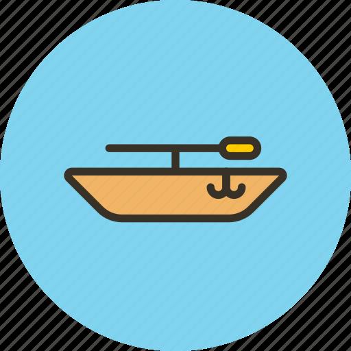 boat, fishing, fishman, swim, water icon