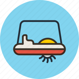 bicycle, pedalo, relaxation, rest, water icon