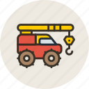construction, crane, equipment, industrial, ivanovec icon