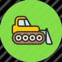 bulldozer, caterpillar, construction, dozer, industrial