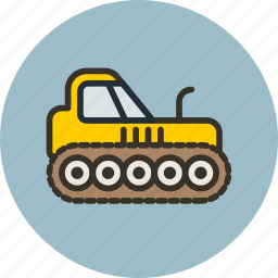 agrimotor, caterpillar, construction, equipment, industrial, tractor icon