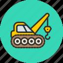 caterpillar, construction, crane, industrial