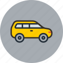 car, crossover, cruiser, jeep, transport, trip icon
