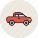 car, farmer, jeep, logistic, pickup, transport, vehicle icon