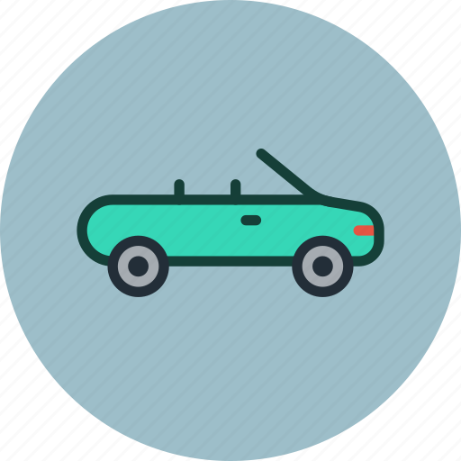 cabriolet, car, transport, vehicle icon
