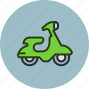 bike, scooter, transport, vehicle icon