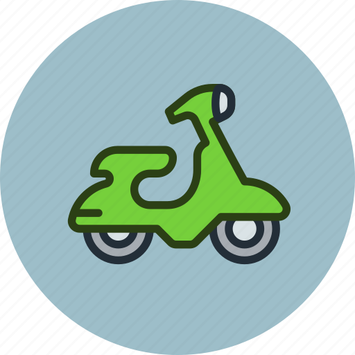 moto, motor, scooter, transport, vehicle icon