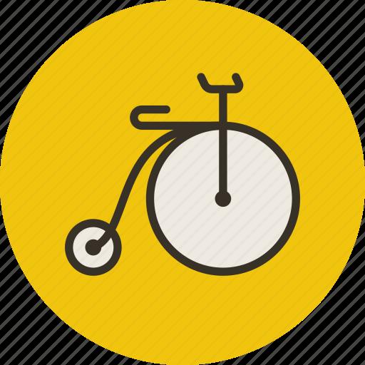 bicycle, retro, sport, transport icon