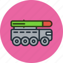 launcher, military, missile, rocket, satana, topol, truck icon