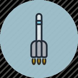 missile, rocket, space, sputnik icon