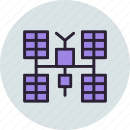 glonass, gps, iss, panels, satellite, solar, sputnik icon
