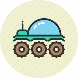 lunar, lunohod, moonwalker, planet, rover, space icon