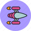 game, ship, shuttle, space, spaceship icon
