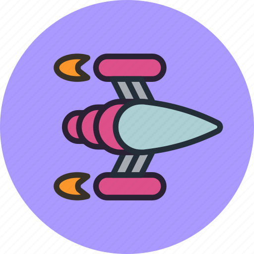 game, ship, shuttle, space, spaceship icon