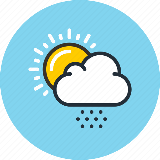 clouds, day, daylight, hail, snow, sun, weather icon