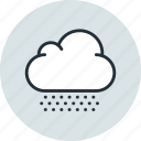 cloud, cloudiness, cloudy, hail, overcast, snow, weather icon