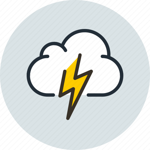 Cloud, cloudy, lightning, overcast, thunder, weather icon - Download on Iconfinder