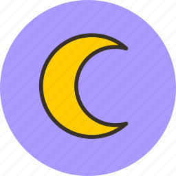 crescent, moon, night, weather icon