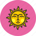 day, fable, face, fairy tale, sun, sunny, weather icon