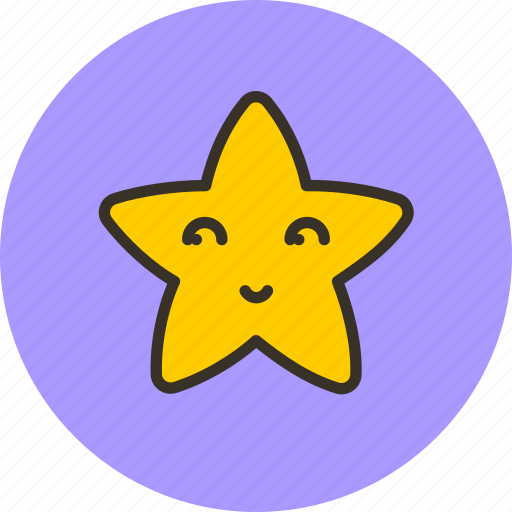 fable, face, fairy, night, star, tale, weather icon