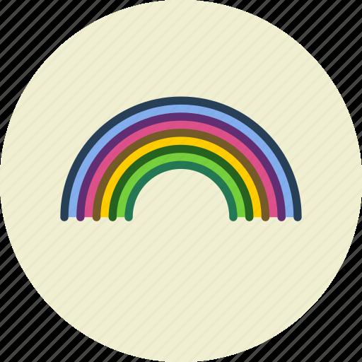 childhood, happiness, rainbow, weather icon