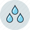 drops, rain, unigrid, weather, wet icon