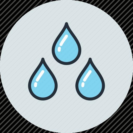 drops, rain, unigrid, weather, wet icon