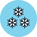 frost, frozen, snow, snowflakes, weather icon