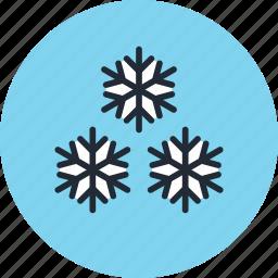 frost, frozen, snow, snowflakes, weather icon