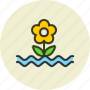 cataclysm, deluge, flood, flower, water, weather