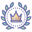 wreath, crown, award, achievement