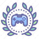 achievement, award, game, wreath icon