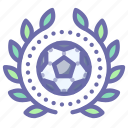 achievement, award, football, wreath icon