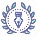 achievement, award, design, wreath icon