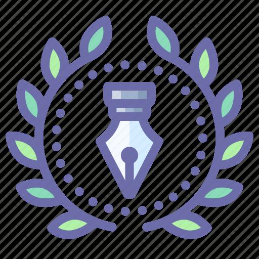 achievement, award, design, wreath icon