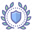 award, badge, security, shield icon
