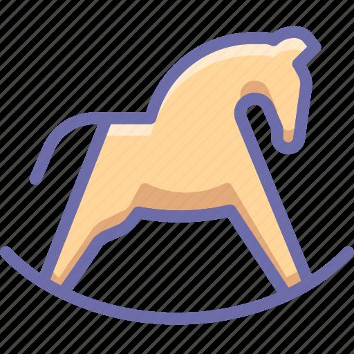 hobbyhorse, horse, toy icon