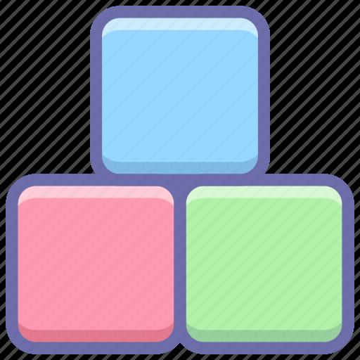 blocks, bricks, constructor, toy icon
