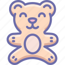 baby, bear, teddy, toy icon