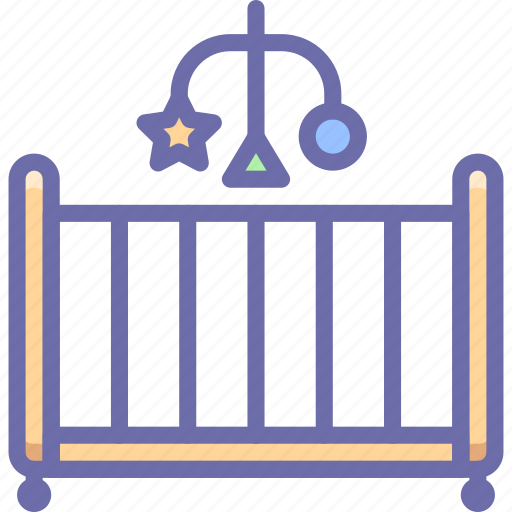 baby, bed, mobile, toy icon