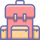 backpack, bag, school, student icon