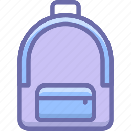 backpack, bag, camping, hike, school icon
