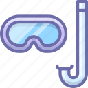 diving, mask, snorkel, snorkeling icon